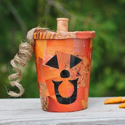 Decoupage Pumpkin Treat Cup
