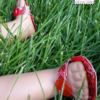 Duct Tape Sandals for Dolls