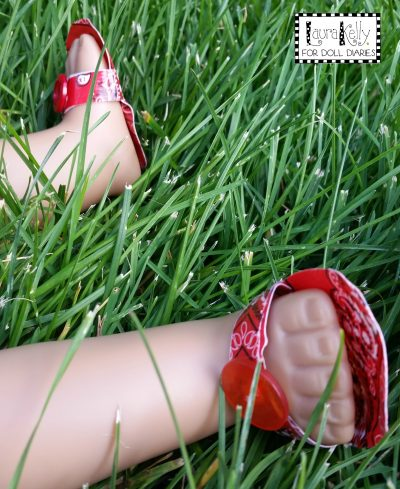 Duck Tape Sandals for Dolls