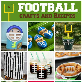 80+ Football Crafts and Recipes for Kids