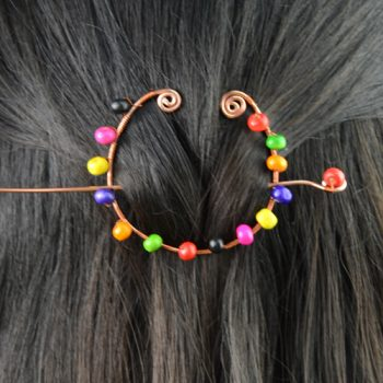 Wire Wrapped Hair Accessory