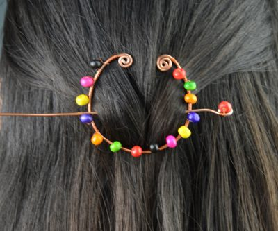 Wire Wrapped Hair Accessories