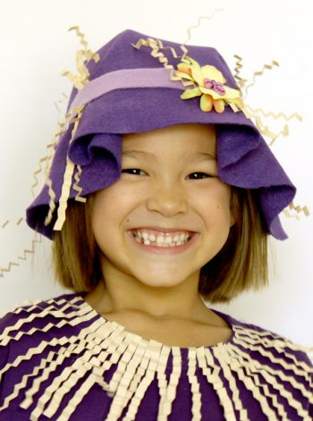 No-Sew Felt Scarecrow Hat