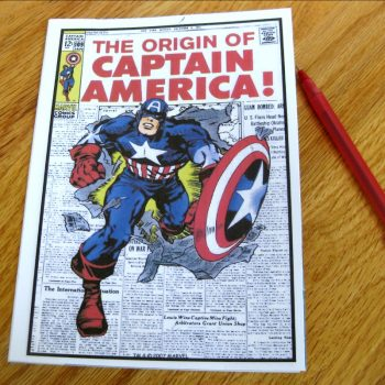 Captain America Notebook
