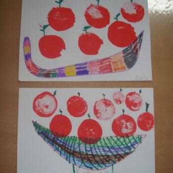 Balloon Print Apples
