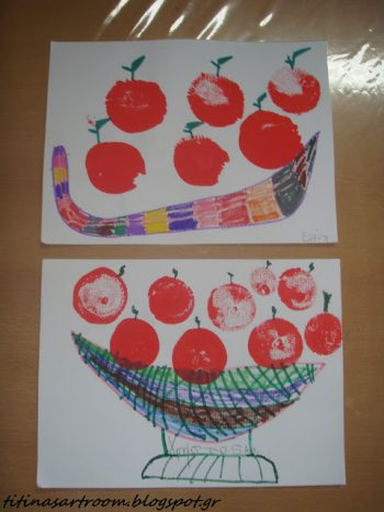 Balloon Print Apples