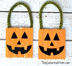 Pumpkin Popsicle Stick Door Hangers