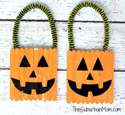 Pumpkin Popsicle Stick Door Hangers