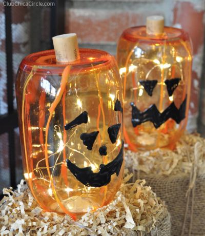 Glass Jack-o-Lanterns