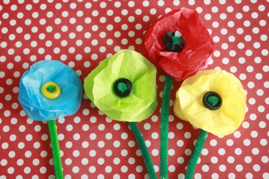 Tissue paper flowers fun family crafts mightylinksfo