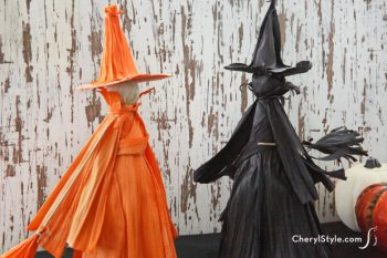 Dyed Cornhusk Witch