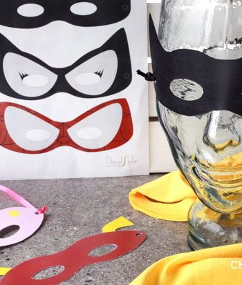 Printable Superhero Masks
