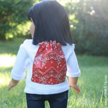 Drawstring Backpack for Dolls