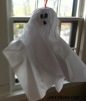 Egg Carton and Tissue Paper Ghost