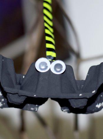 Spooky Egg Carton Bat Decoration