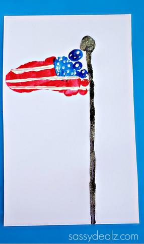 Footprint American Flag