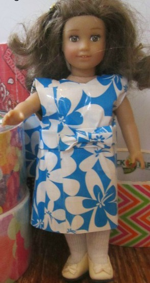 Duct Tape Dress for a Mini Doll