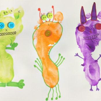Monster Footprint Art