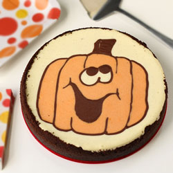 Happy Jack-O-Lantern Cheesecake