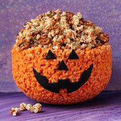Popcorn Bowl Jack-O-Lantern
