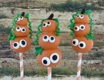 Stacked Pumpkin Cake Pops