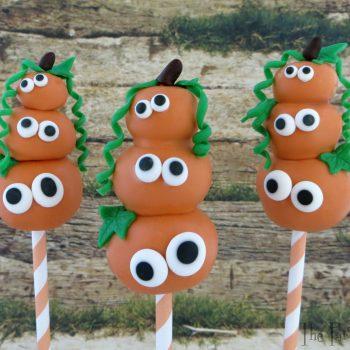 Stacked Pumpkin Cake Pops