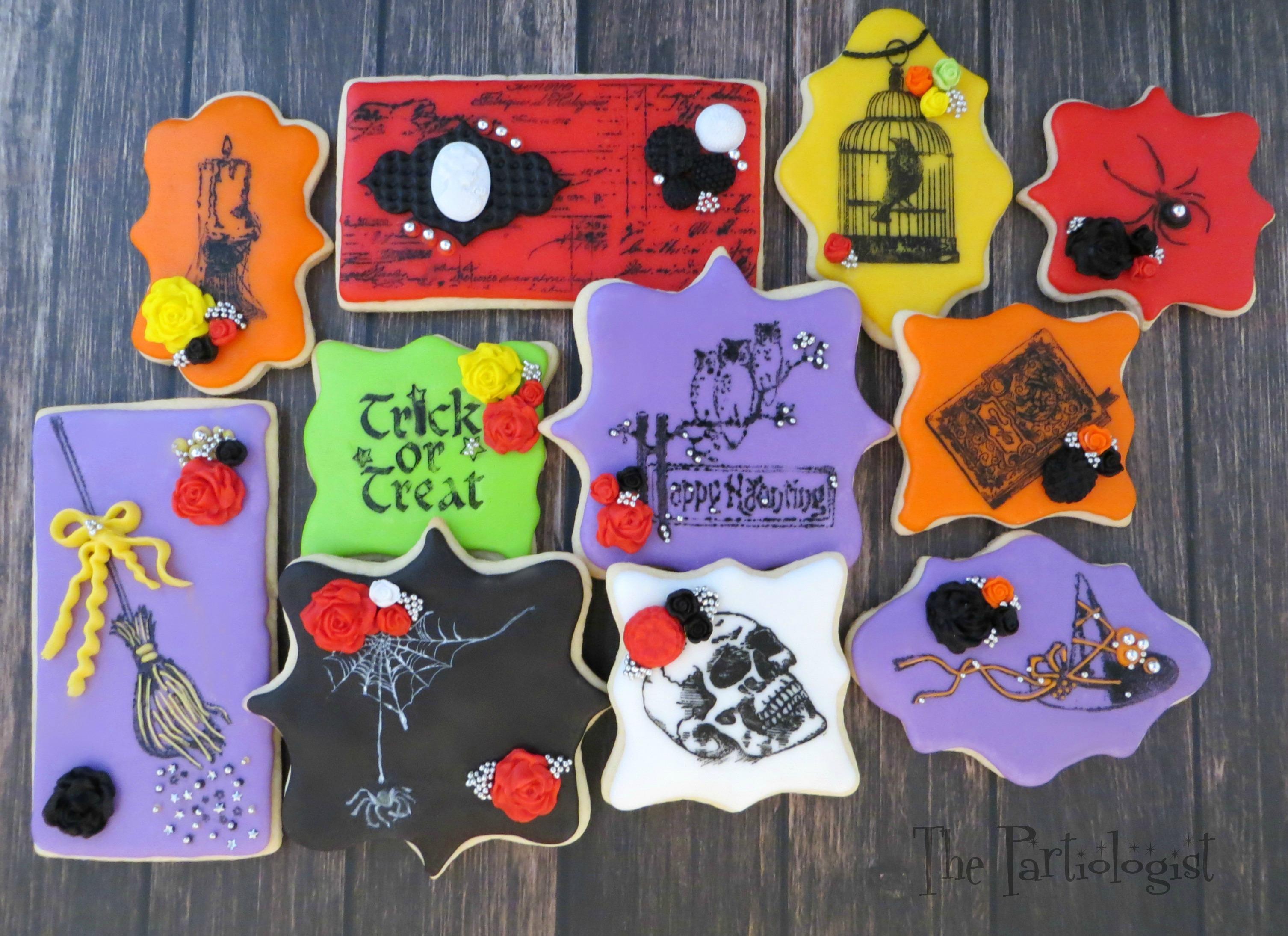 Stamped Halloween Cookies
