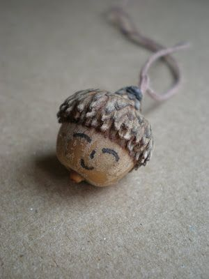 Acorn Face Necklace
