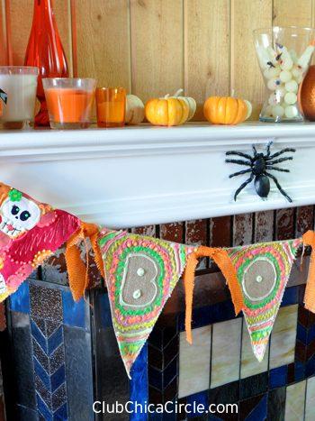 Glow-In-The-Dark Halloween Bunting Banner