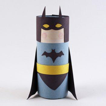 Cardboard Tube Batman