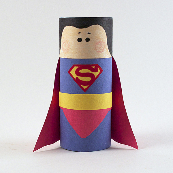 Cardboard Tube Superman