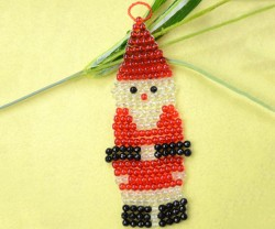 Beaded Santa Claus Ornament