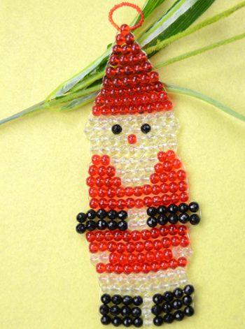 Beaded Santa Claus Ornament