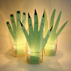 Creepy Hand Luminaries for Halloween