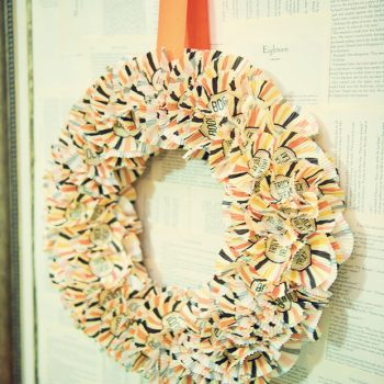 Halloween Cupcake Wrapper Wreath