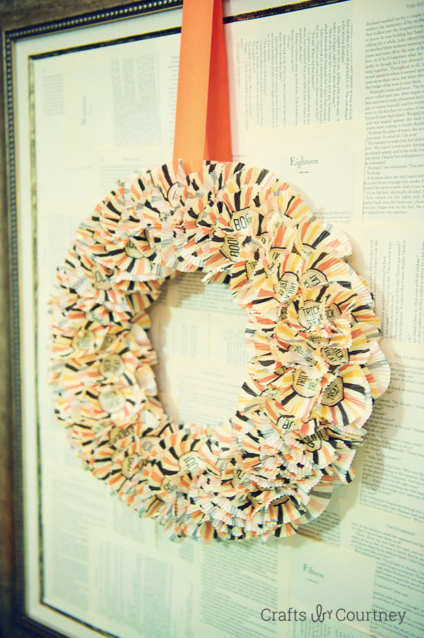 Halloween Cupcake Wrapper Wreath