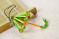 Beaded Umbrella Charm