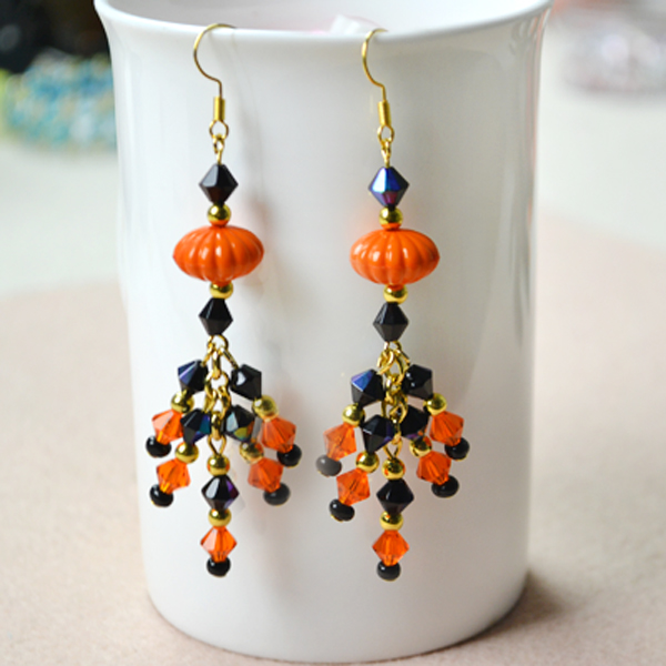 Beaded Halloween Earrings