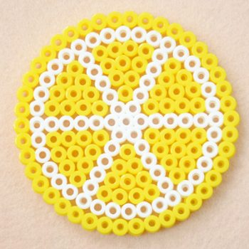 Perler Bead Lemon Coasters