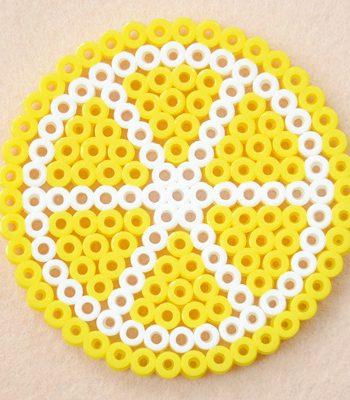 Perler Bead Lemon Coasters