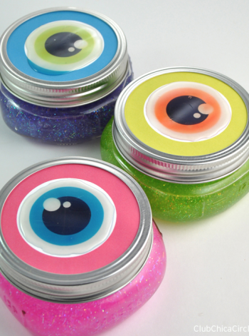Eyeball Mason Jars with Glittery Slime