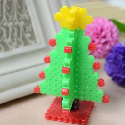 3d perler bead christmas tree fun family crafts