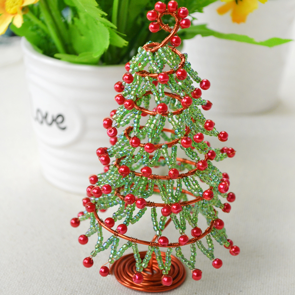 Wire and bead christmas tree fun family crafts