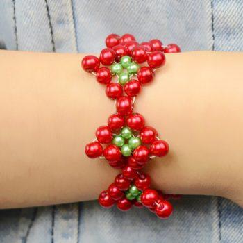 Beaded Christmas Bracelet