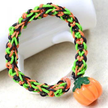 Rubber Band Bracelet with Pumpkin