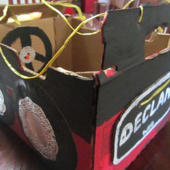 Wearable Cardboard Box Car