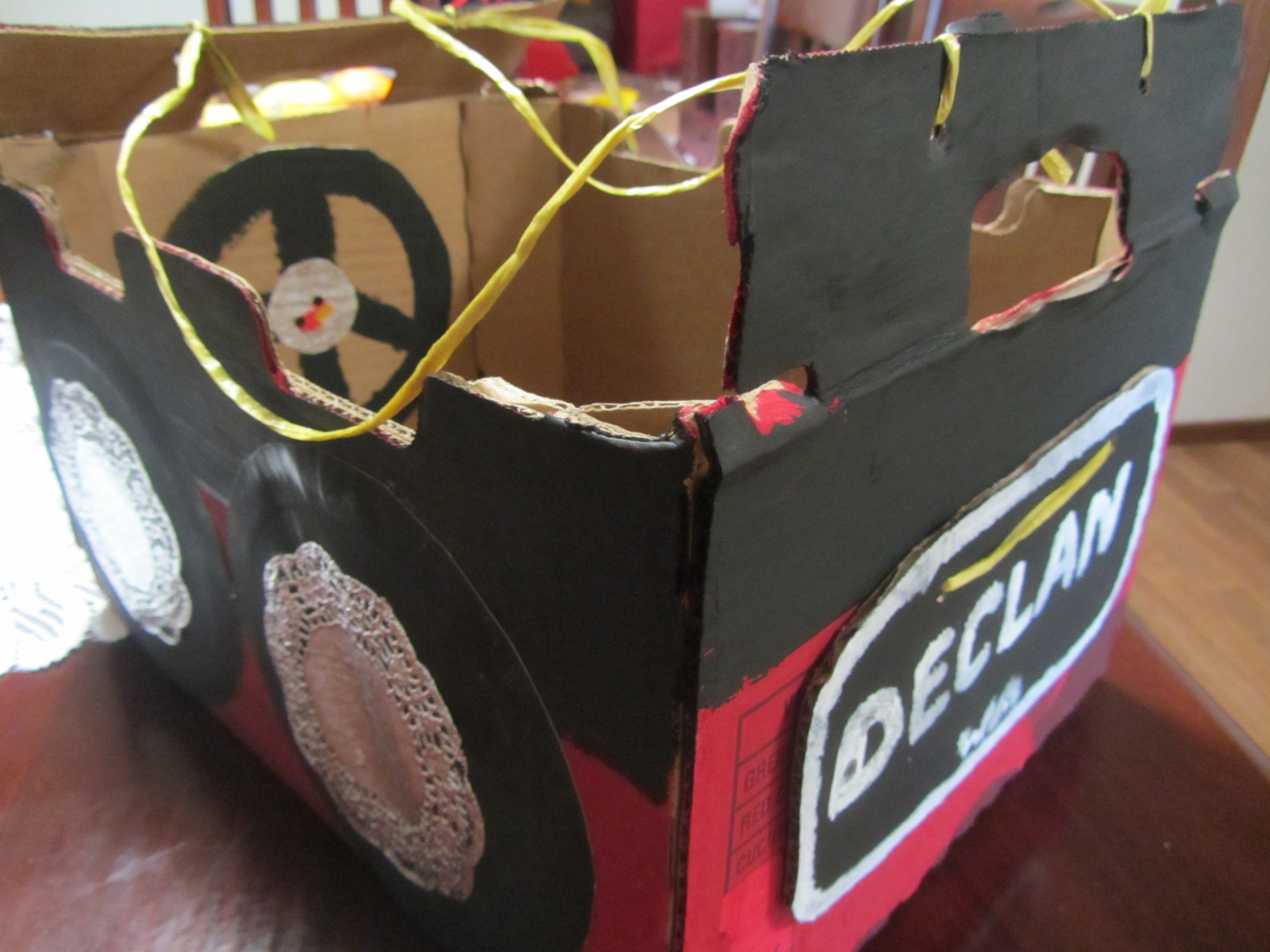Wearable Cardboard Box Car Fun Family Crafts