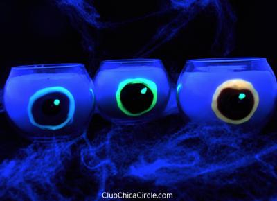 Spooky Glowing Eyeball Candles