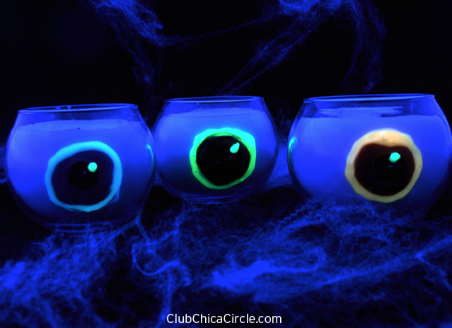 Spooky Glowing Eyeball Candles