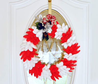 Plastic Spoon Holiday Wreath